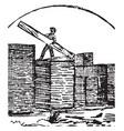 lumber yard vintage vector image vector image