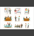 managers and office workers on business training vector image vector image