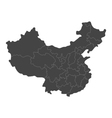 map of China with regions vector image vector image