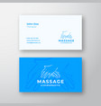 massage and chiropractic abstract logo and vector image