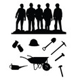 miners vector image