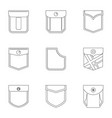 monkey icon set outline style vector image vector image