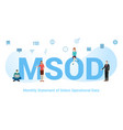 msod monthly statement select operational data vector image vector image