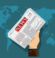 newspaper with daily press vector image vector image