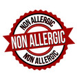 non allergic label or sticker vector image vector image
