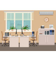 office room interior design including two work vector image vector image