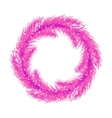 Pink christmas tree wreath Spruce branches vector image
