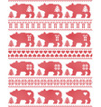 Polar Bear seamless Christmas pattern vector image vector image