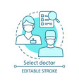 select doctor concept icon vector image
