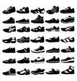 silhouettess shoes vector image