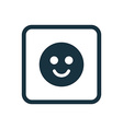 smile icon Rounded squares button vector image vector image