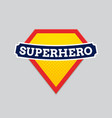 Superhero badge logo super hero shield man