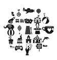 tad icons set simple style vector image vector image