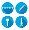 Tool icons set Spattle brush surfacer vector image vector image