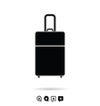 travel bag set in black and white color vector image vector image