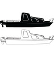 two boats - vector image vector image