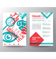 Typography Brochure Flyer design Layout template vector image
