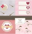 Valentines Day scrapbook elements vector image