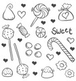 various candy sketch of doodle art vector image