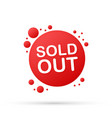 web banner - sold out stock vector image