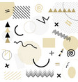 white abstract geometric chaotic pattern memphis vector image vector image