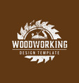 woodworking logo icon design template vector image vector image