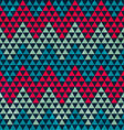 zigzag triangle seamless pattern vector image