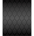 Luxury seamless black floral wallpaper vector image