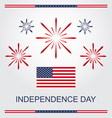 4th of july american independence day vector image