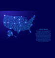 map united states of america from printed board vector image