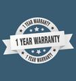1 year warranty ribbon 1 year warranty round vector image vector image