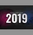 2019 new year decorative dark background vector image vector image