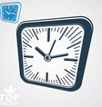 3d square wall clock with black dial simple