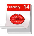 A kiss for Valentines Day vector image vector image