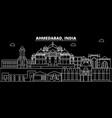 ahmedabad silhouette skyline india - ahmedabad vector image vector image