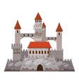 ancient castle icon cartoon style vector image vector image