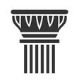 antique column sign line art black icon vector image