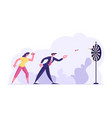 aspirational business people mission achievement vector image vector image