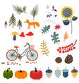 autumn fall clip art vector image vector image