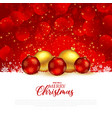 beautiful red christmas festival greeting vector image vector image
