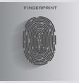 black fingerprint identification symbol vector image vector image
