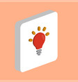 bulb lamp computer symbol vector image