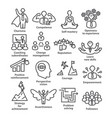 business management line icons pack 45 icons for vector image vector image