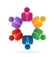businessman team corporation icon vector image