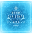 Christmas lights with snowflakes and typography vector image vector image