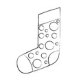 christmas sock isolated icon vector image vector image