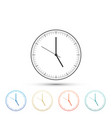 clock icon isolated on white background time icon vector image vector image
