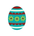 Colorful easter egg icon vector image vector image