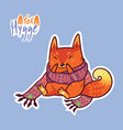 cute baby fox in scarf cute decorative patch in vector image vector image