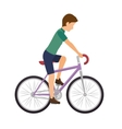 cyclist man riding a bicycle vector image vector image